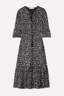 MICHAEL Michael Kors Leopard-print Georgette Midi Dress - Leopard print