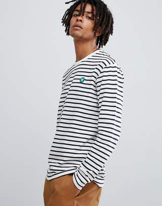 Wood Wood Mel striped long sleeve t-shirt in white