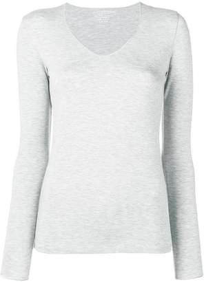Majestic Filatures silver v-neck T-shirt