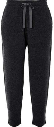 Allude Wool And Cashmere-blend Track Pants - Gray
