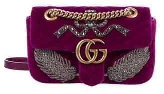 e03481e60b9 Gucci GG Marmont embroidered velvet mini bag