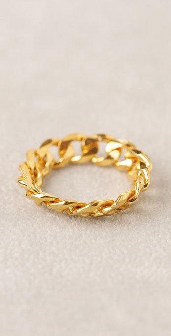 Jorge Morales Gold Braid Ring