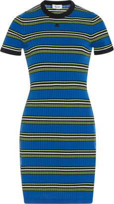 Courreges Variegated Striped Knit Dress