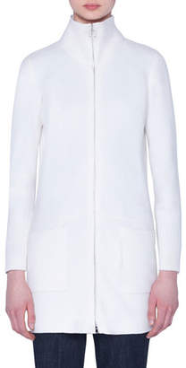 Akris Cashmere Zip-Front Turtleneck