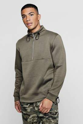 boohoo Funnel Neck Sweater With Stitch Detailing