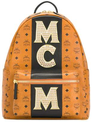 MCM Stark backpack with studded logo