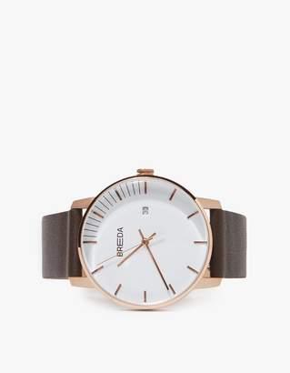 Breda Phase Watch - Rose Gold/Brown