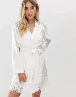 Ted Baker Tie The Knot bridal kimono dressing gown in ivory