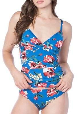 Lauren Ralph Lauren Havana Floral Surplice Tankini