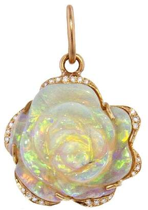 Irene Neuwirth One-Of-A-Kind Carved Rose Opal Charm - Rose Gold