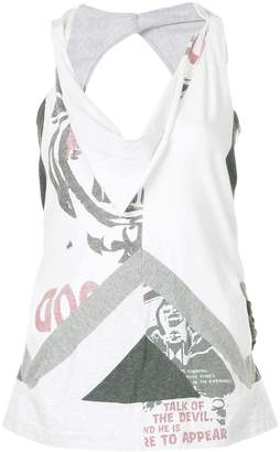 Comme des Garcons Junya Watanabe Pre-Owned deconstructed tank top