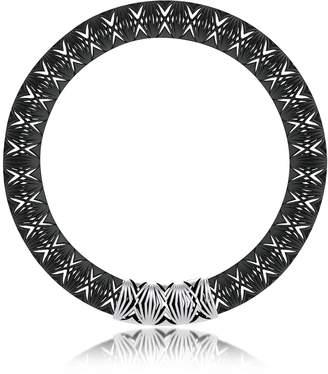 Vojd Studios Umbala Black Chevron Flower Pendant Neckpiece