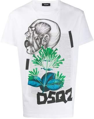 DSQUARED2 graphic print shirt