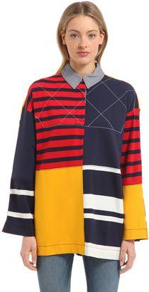 Oversized Patchwork Shirt Gigi Hadid $170 thestylecure.com