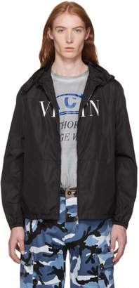 Valentino Black Logo Windbreaker Jacket