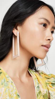 Rebecca De Ravenel Geo Hoop Earrings