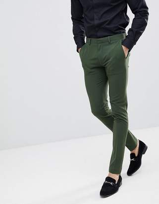 Asos Design Super Skinny Suit Pants In Khaki