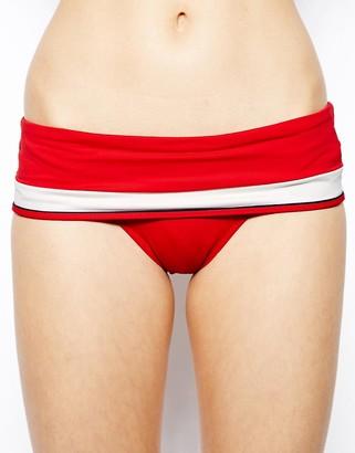 Huit Sunset Stripe Bandeau Fold Over Brief Bikini $68 thestylecure.com