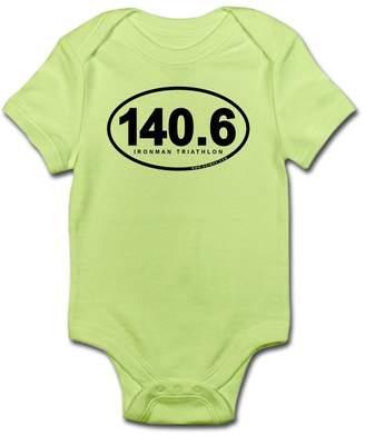 Iron Man CafePress - 140.6 Ironman Triathlon Infant Bodysuit - Cute Infant Bodysuit Baby Romper