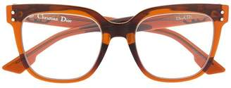 Christian Dior (クリスチャン ディオール) - Dior Eyewear ラウンド眼鏡フレーム