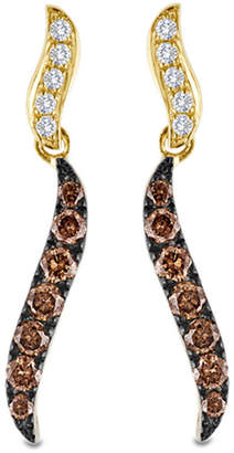Zales Le Vian Chocolate DiamondsA 1/2 CT. T.W. Diamond Ribbon Drop Earrings in 14K Honey Golda