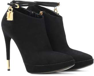 Tom Ford Embellished suede boots