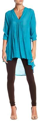 Papillon V-Neck Hi-Lo Blouse
