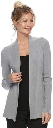 Dana Buchman Women's Ribbed Open-Front Cardigan