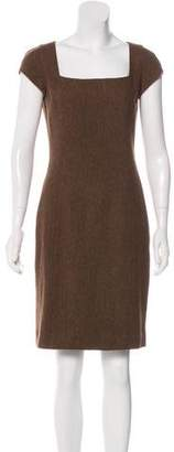 Ralph Lauren Black Label Wool Knee-Length Dress