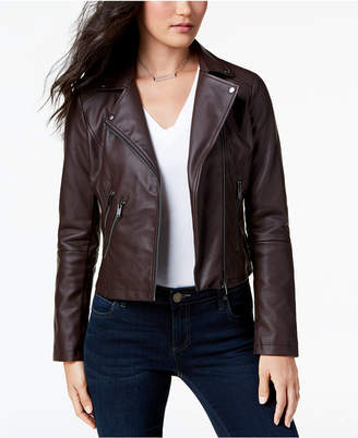 Moto CoffeeShop Juniors' Faux-Leather Jacket