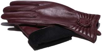 Moda Women's Ms. Brussels Genuine Leather Fully Lined Winter Gloves With Touch Function