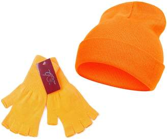 TOP HEADWEAR TopHeadwear Long Beanie and Fingerless Glove Combo Set