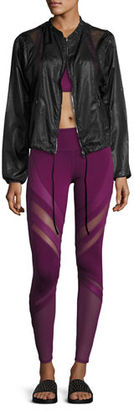 Alo Yoga Epic Matte & Glossy Mesh Leggings $124 thestylecure.com