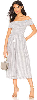 1 STATE Off Shoulder Smocked Bodice Jumpsuit