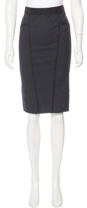 La Perla Grosgrain-Trimmed Pencil Skirt $95 thestylecure.com