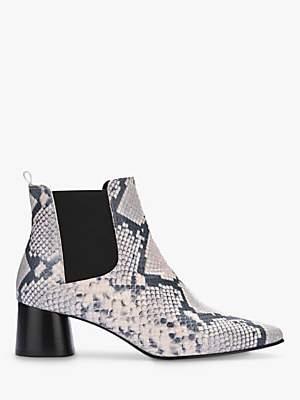 Mint Velvet Maya Snake Print Ankle Boots, Multi