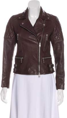 AllSaints Leather Moto Jacket brown Leather Moto Jacket