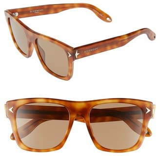 Women's Givenchy 55Mm Square Sunglasses - Light Havana