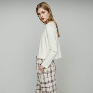 Maje Short cardigan in mixed cotton