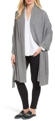 Halogen Cardigan Stitch Cashmere Wrap
