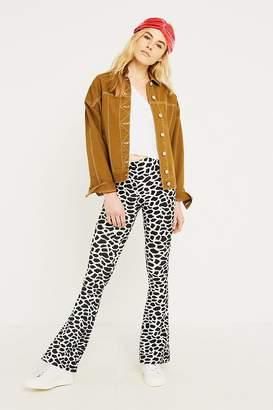 Urban Renewal Vintage Remnants Giraffe Print Mega Flare Trousers
