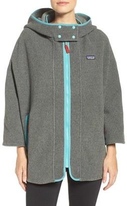 Women's Patagonia 'Synchilla' Fleece Poncho $159 thestylecure.com