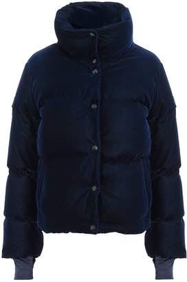 SAM. Sophia Navy Velvet Puffer Jacket