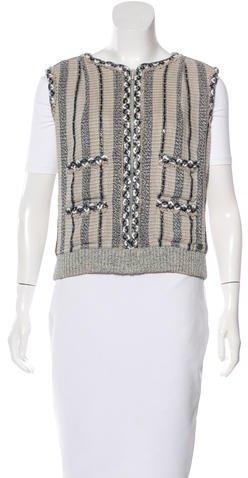 ChanelChanel Embellished Linen Vest
