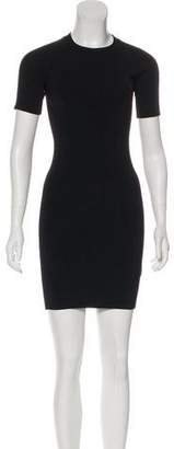 Alexander Wang Short Sleeve Bodycon Mini Dres
