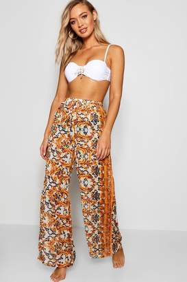 boohoo Chain Print Beach Trouser