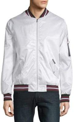Members Only Twill Bomber Jacket