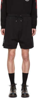 McQ Black Racing Swallow Shrunken Shorts
