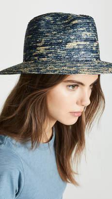 Raffaello Bettini Dyed Straw Fedora Hat