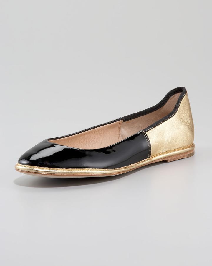 Diane von Furstenberg Botswana Two-Tone Ballerina Flat